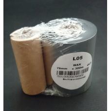 Thermotransfer Farbband schwarz 76mmx300m OUT, aussengewickelte Wachsschicht, TSC/TEC/Birch