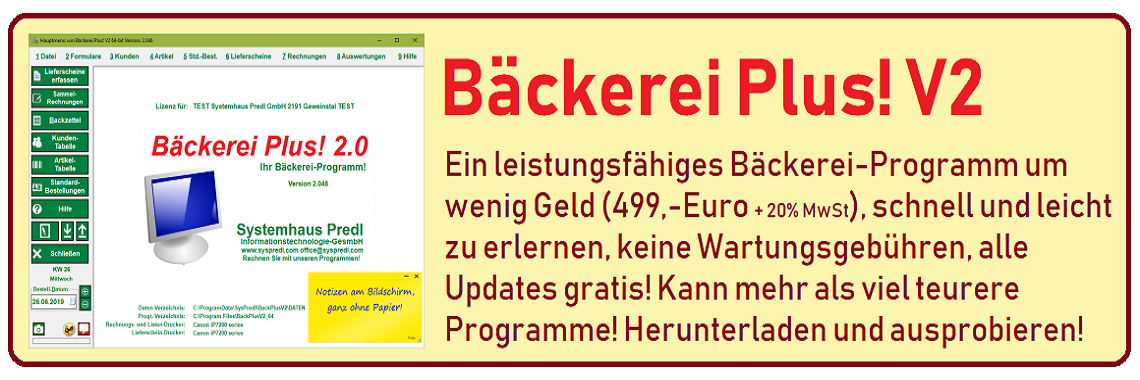 Bäckerei Software